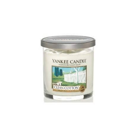 Yankee Candle 1 Docht Regular Tumbler Glaskerze klein 198g Clean Cotton