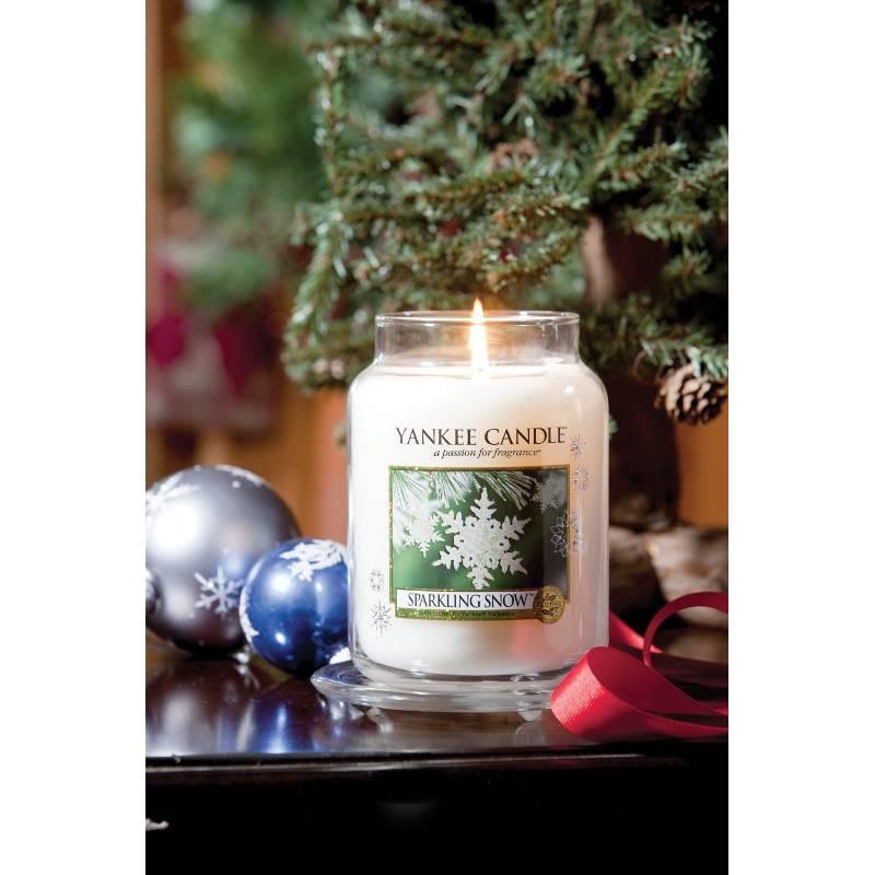 yankee candle housewarmer jar glaskerze gro 623g sparkling snow. Black Bedroom Furniture Sets. Home Design Ideas