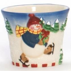 Yankee Candle Skating Snowmen Votivehalter