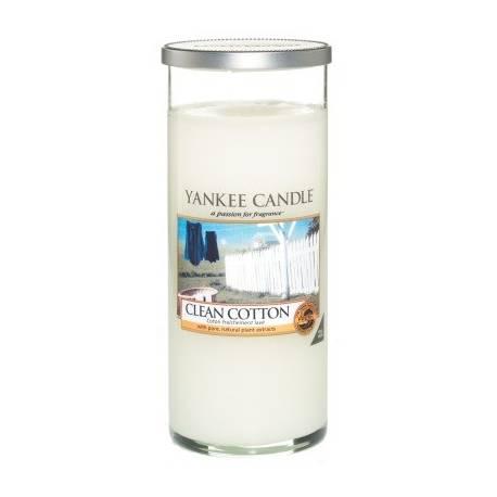 Yankee Candle Pillar Glaskerze gross 538g Clean Cotton