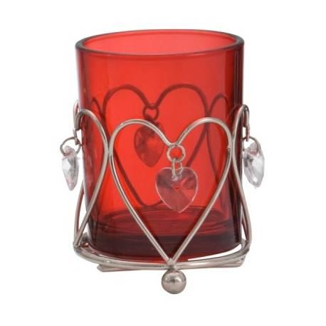 Yankee Candle Heart Pendant Votivhalter rot