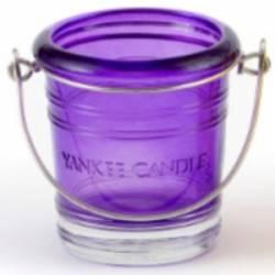 Yankee Candle Bucket Votivhalter lila