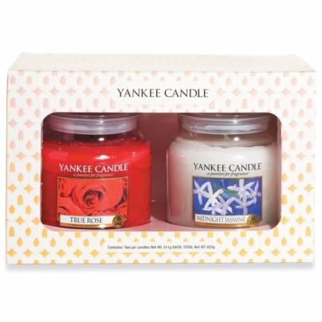 Yankee Candle 2er Geschenkset mittlere Jar Gläser Blumig