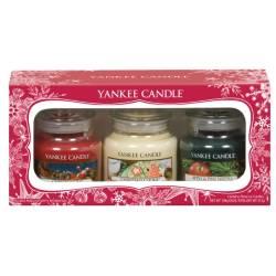 Yankee Candle Geschenk-Set Weihnachten 3x Jar klein 104g