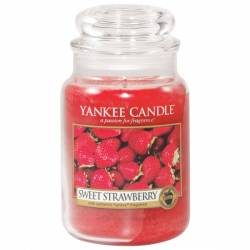 Yankee Candle Jar Glaskerze groß 623g Sweet Strawberry