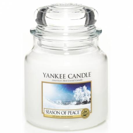 Yankee Candle Jar Glaskerze mittel 411g Season of Peace