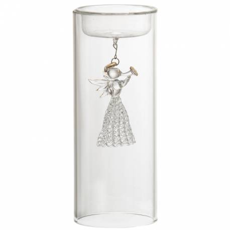 Yankee Candle Angel Glas klar Teelichthalter