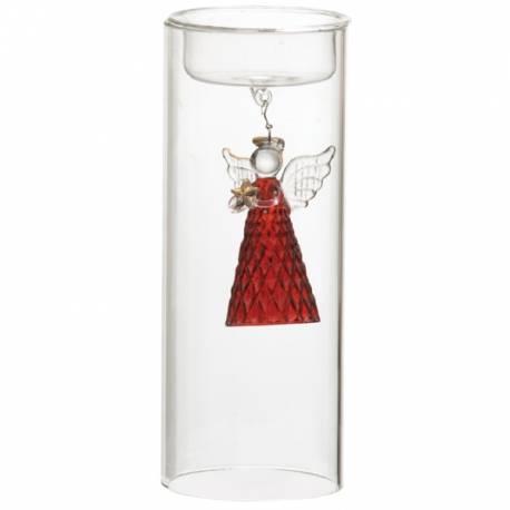Yankee Candle Angel Glas rot Teelichthalter