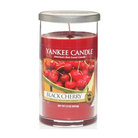 Yankee Candle Pillar Glaskerze mittel 340g Black Cherry