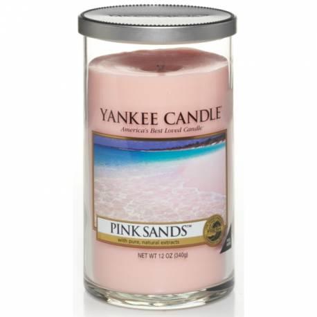 Yankee Candle Pillar Glaskerze mittel 340g Pink Sands