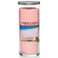 Yankee Candle Pillar Glaskerze gross 566g Pink Sands