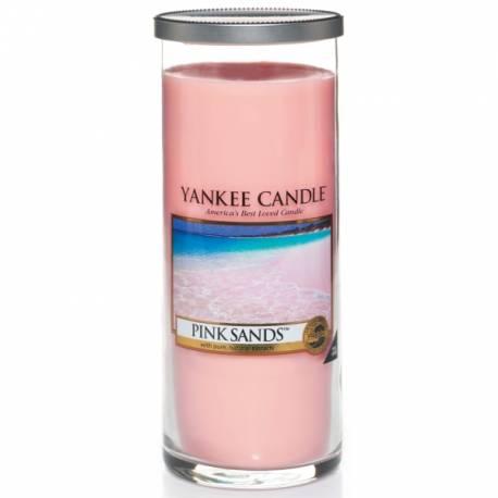 Yankee Candle Pillar Glaskerze gross 566g Pink Sands