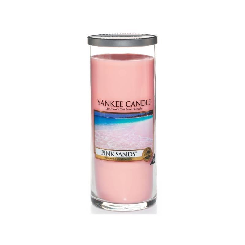 yankee candle pillar glaskerze gross 566g pink sands. Black Bedroom Furniture Sets. Home Design Ideas