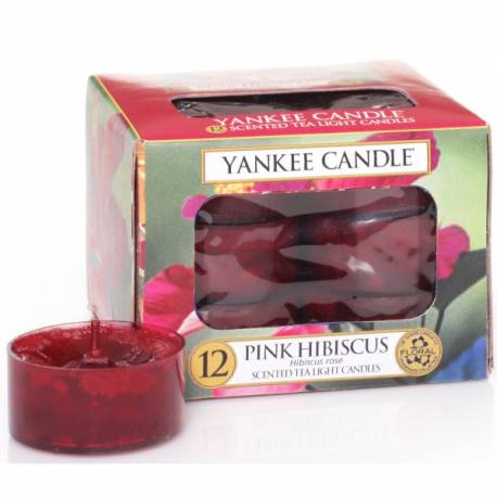 Yankee Candle Teelichter 12er Pack Pink Hibiscus