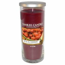 Yankee Candle Pillar Glaskerze gross 566g Black Cherry