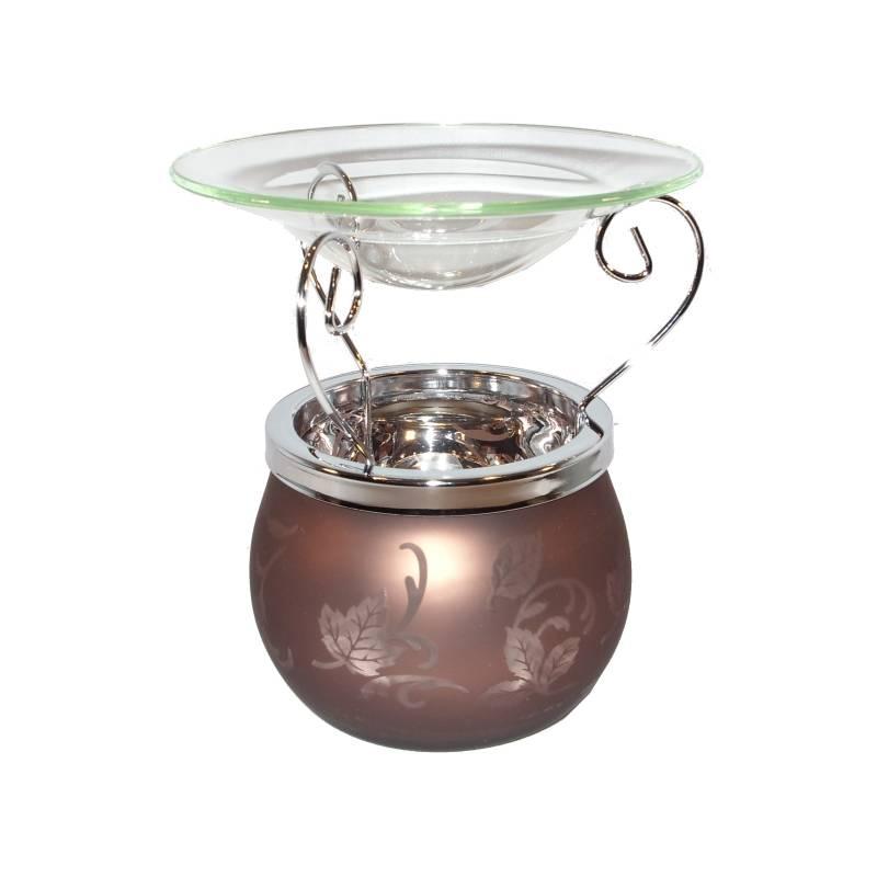 yankee candle glas leaf finis duftlampe braun. Black Bedroom Furniture Sets. Home Design Ideas