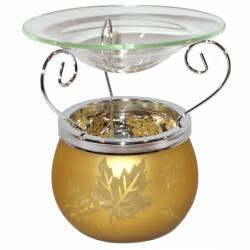 Yankee Candle Glas Leaf Finis Duftlampe ocker