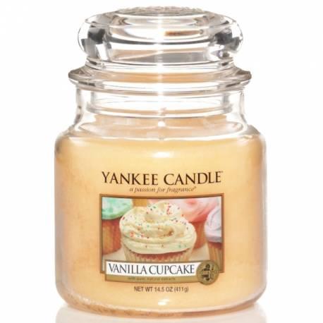 Yankee Candle Jar Glaskerze mittel 411g Vanilla Cupcake