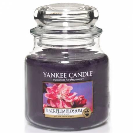 Yankee Candle Jar Glaskerze mittel 411g Black Plum Blossom
