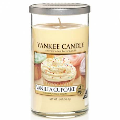 Yankee Candle Pillar Glaskerze mittel 340g Vanilla Cupcake