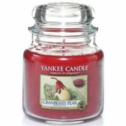 Yankee Candle Jar Glaskerze mittel 411g Cranberry Pear