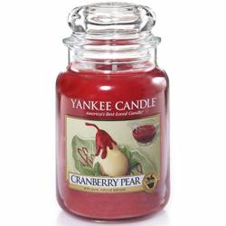 Yankee Candle Jar Glaskerze groß 623g Cranberry Pear