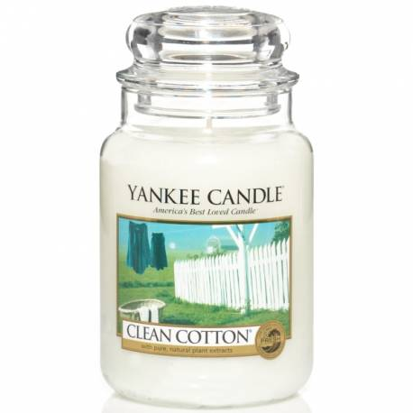 Yankee Candle Jar Glaskerze groß 623g Clean Cotton