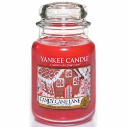 Yankee Candle Jar Glaskerze groß 623g Candy Cane Lane