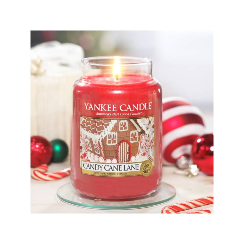 yankee candle housewarmer classic jar glaskerze gro 623g candy cane lane. Black Bedroom Furniture Sets. Home Design Ideas