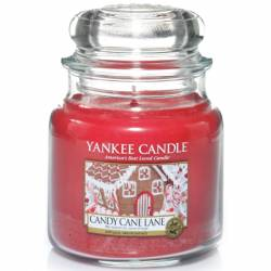 Yankee Candle Jar Glaskerze mittel 411g Candy Cane Lane