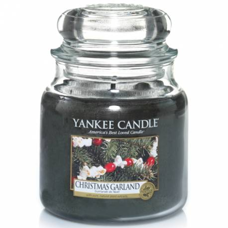 Yankee Candle Jar Glaskerze mittel 411g Christmas Garland