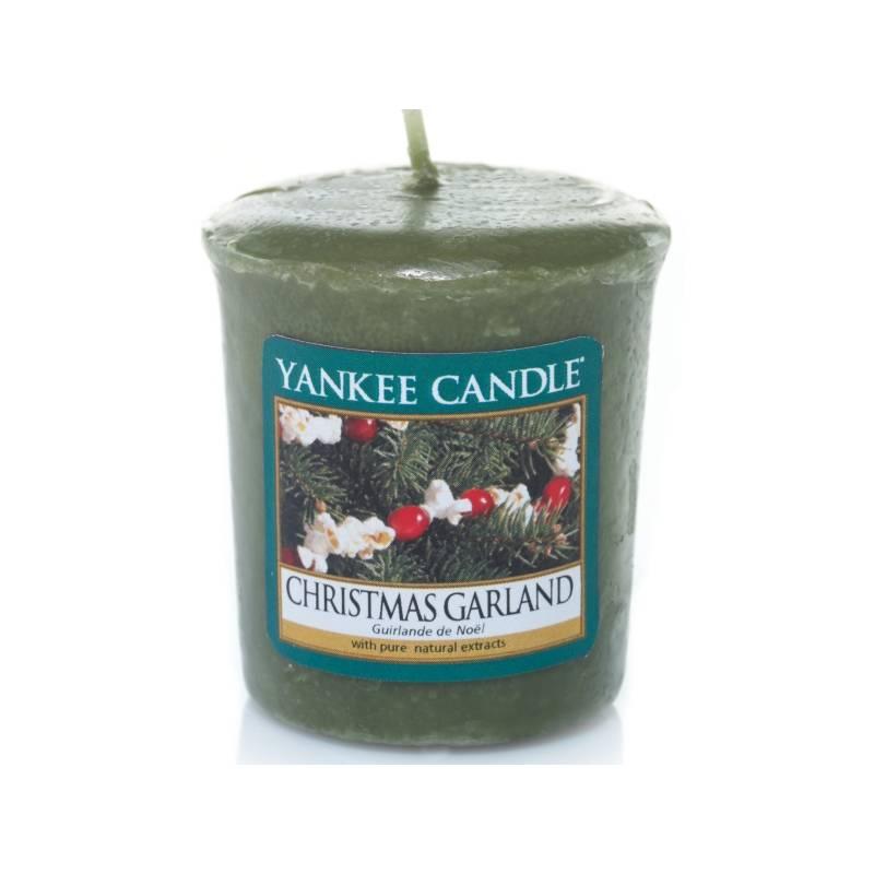 yankee candle sampler votivkerze christmas garland. Black Bedroom Furniture Sets. Home Design Ideas