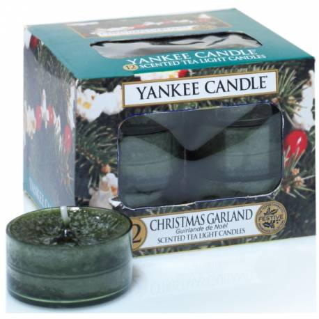 Yankee Candle Teelichter 12er Pack Christmas Garland