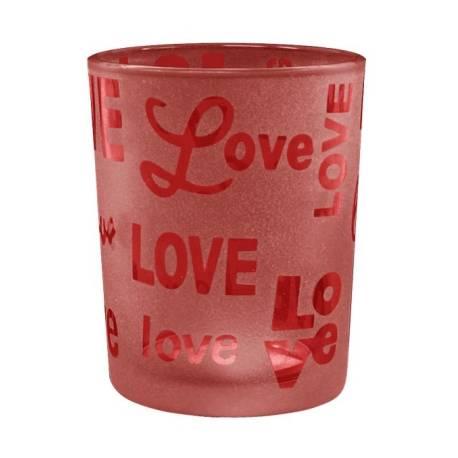 Yankee Candle Love Script Votivhalter rot