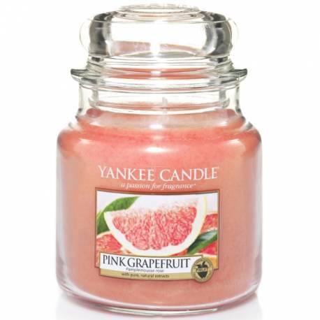 Yankee Candle Jar Glaskerze mittel 411g Pink Grapefruit