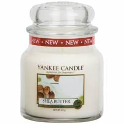 Yankee Candle Jar Glaskerze mittel 411g Shea Butter