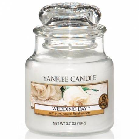 Yankee Candle Jar Glaskerze klein 104g Wedding Day