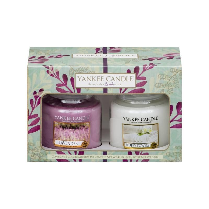 yankee candle geschenk set pure essence 2x jar mittel 411g. Black Bedroom Furniture Sets. Home Design Ideas