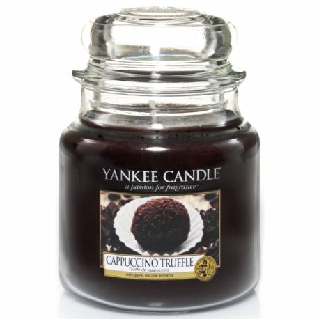 Yankee Candle Jar Glaskerze mittel 411g Cappuccino Truffle