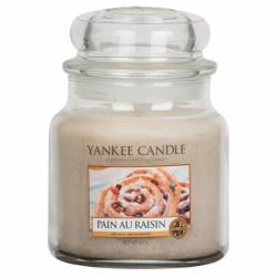Yankee Candle Jar Glaskerze mittel 411g Pain au Raisin