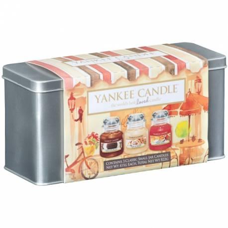 Yankee Candle Geschenk-Set Café Culture 3x Jar klein 104g