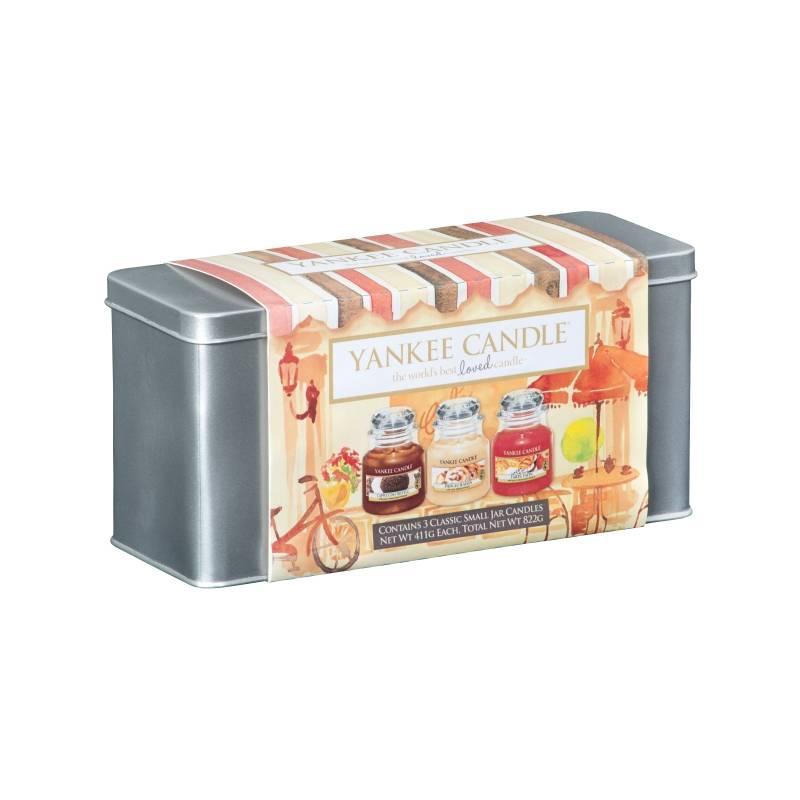 yankee candle geschenk set caf culture 3x jar klein 104g. Black Bedroom Furniture Sets. Home Design Ideas