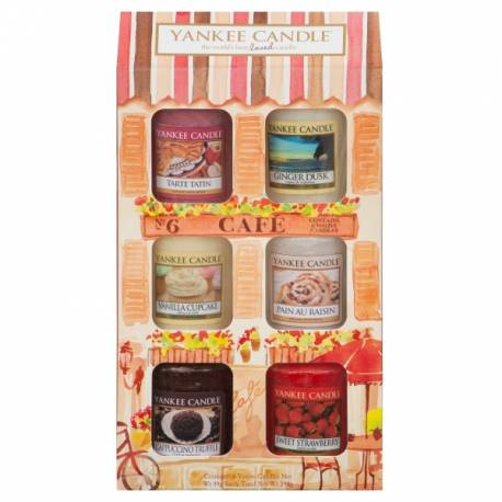 Yankee Candle Geschenk-Set Café Culture Sampler / Votive 6er Café-Haus