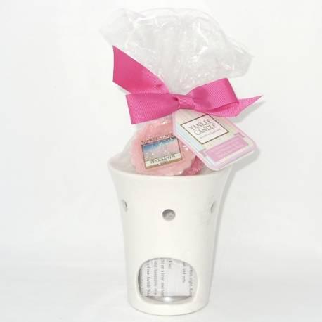 Yankee Candle Geschenk-Set Circles Duftlampe mit 3 Tart / Melt