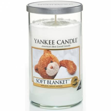 Yankee Candle Pillar Glaskerze mittel 340g Soft Blanket