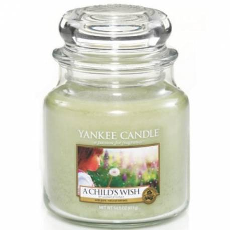Yankee Candle Jar Glaskerze mittel 411g A Childs Wish
