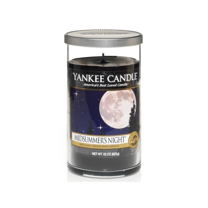 yankee candle pillar glaskerze mittel midsummers night. Black Bedroom Furniture Sets. Home Design Ideas