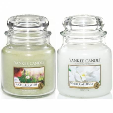 yankee candle 2er geschenk set mittlere jar gl ser flower power. Black Bedroom Furniture Sets. Home Design Ideas