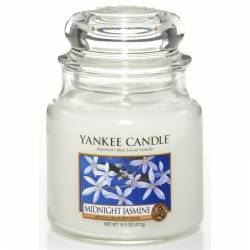 Yankee Candle Jar Glaskerze mittel 411g Midnight Jasmine