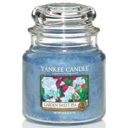 Yankee Candle Jar Glaskerze mittel 411g Garden Sweet Pea